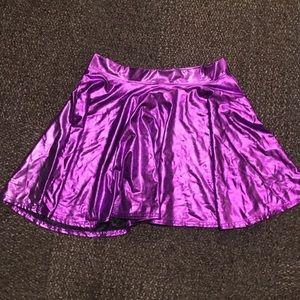 Dresses & Skirts - Purple Metallic Skater Skirt